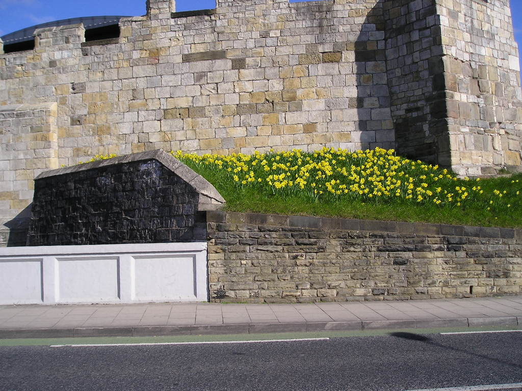 Queen Street bridge, and the bar walls, April 2006