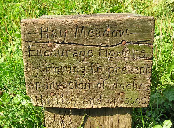 Sign on Rawcliffe Meadows, 7 August 2004