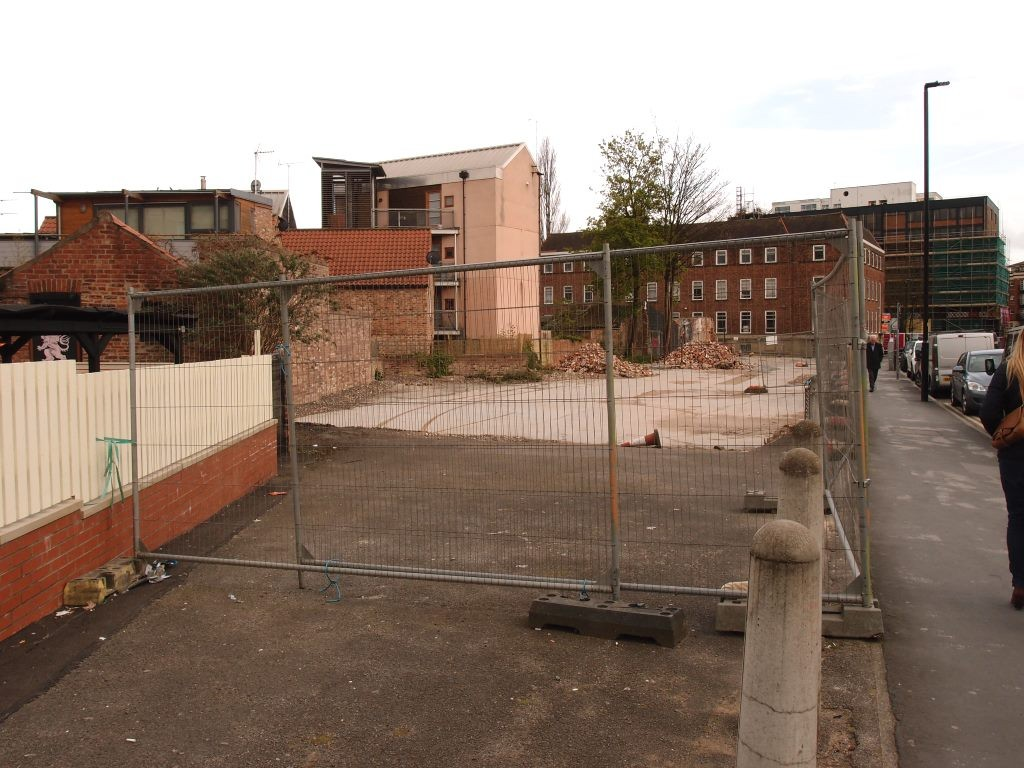 The former Reynards/Airspeed site, Piccadilly, earlier this year
