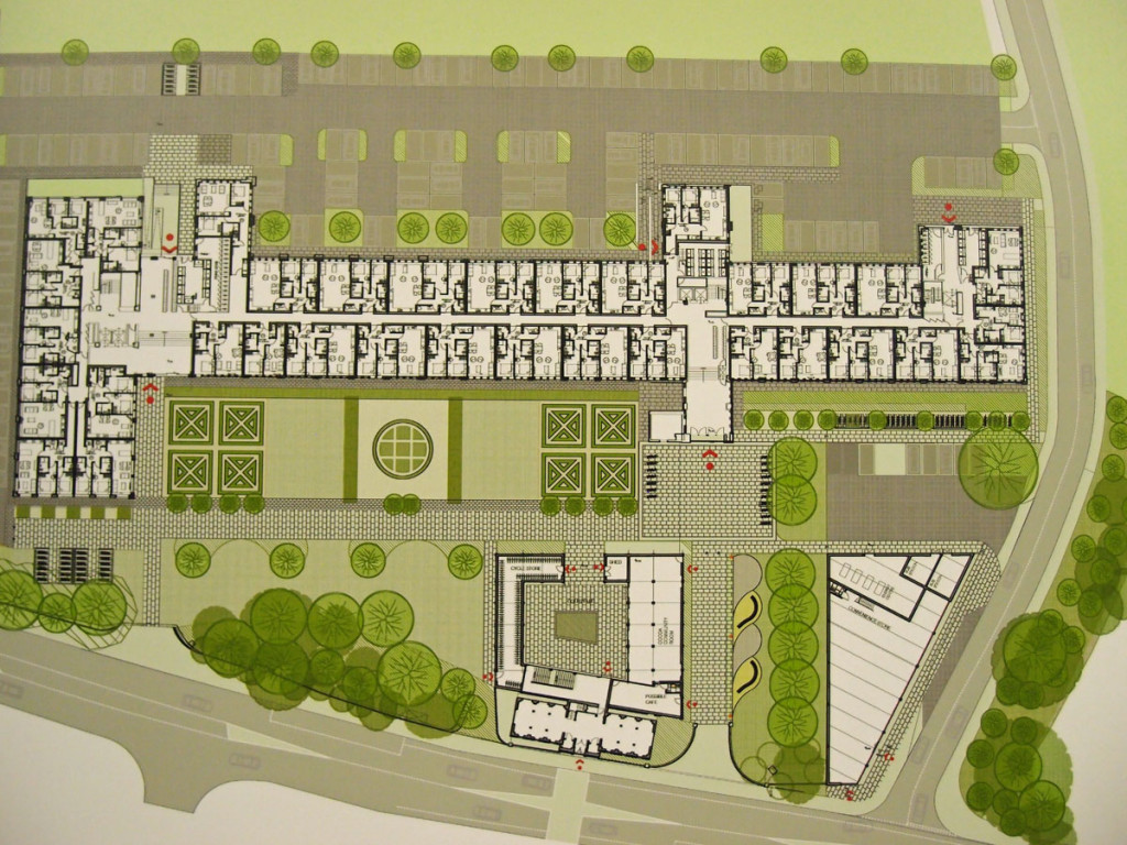 Illustration: plan for factory redevelopment