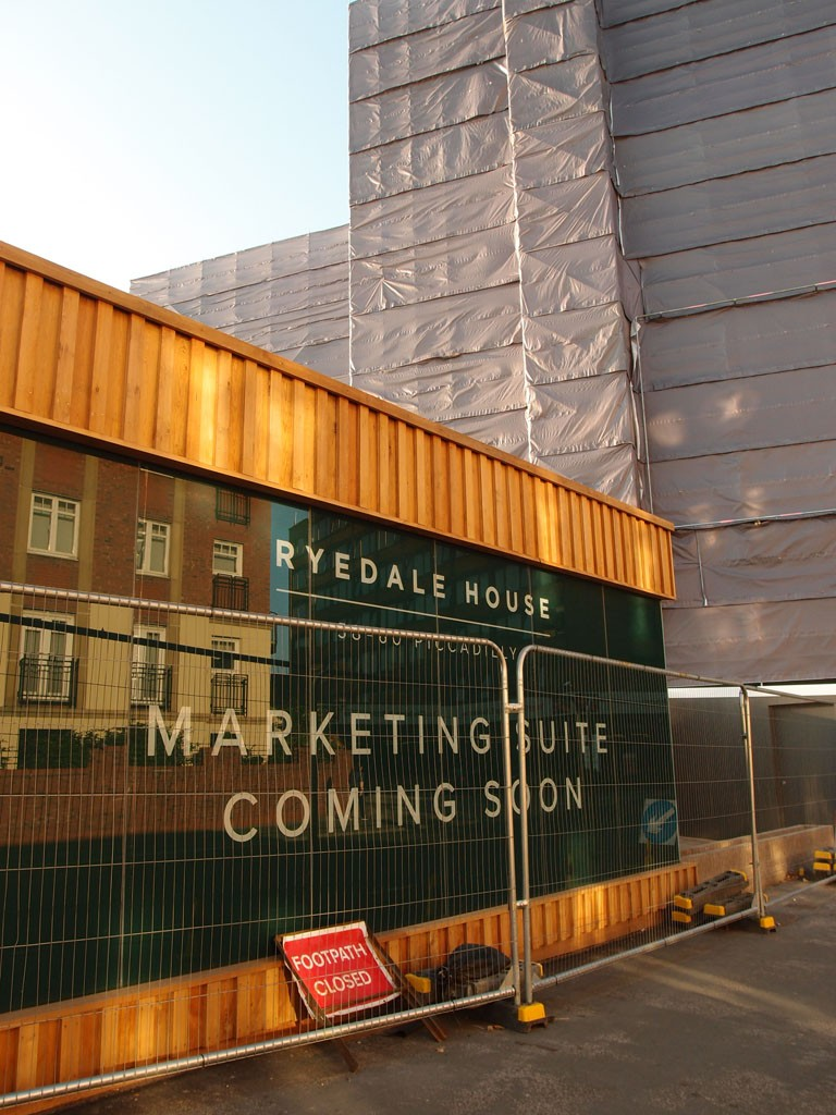 Ryedale House development, Piccadilly, 10 Oct 2018