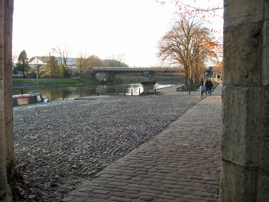 Scarborough Bridge from the riverside at the end of Marygate, 1 Dec 2019
