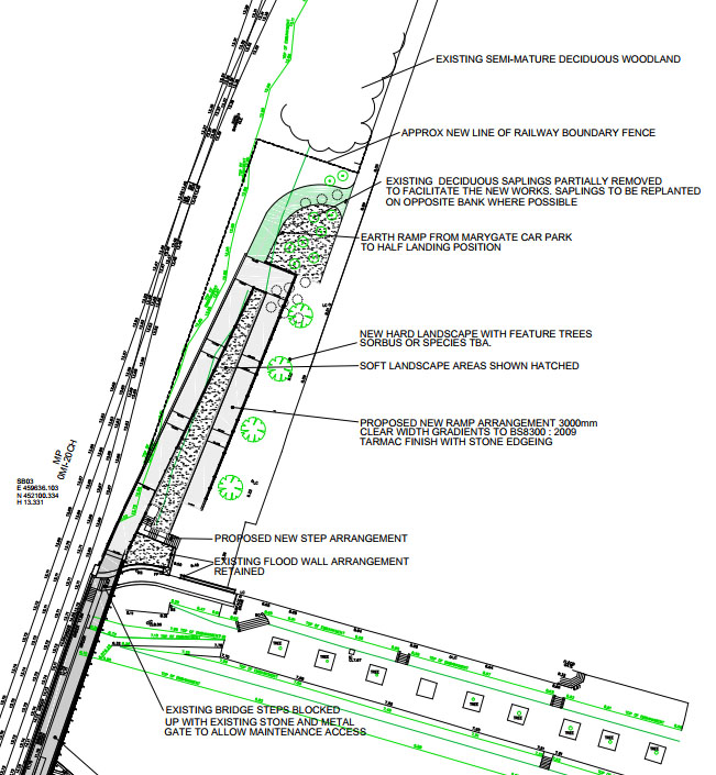 Extract from planning application documents