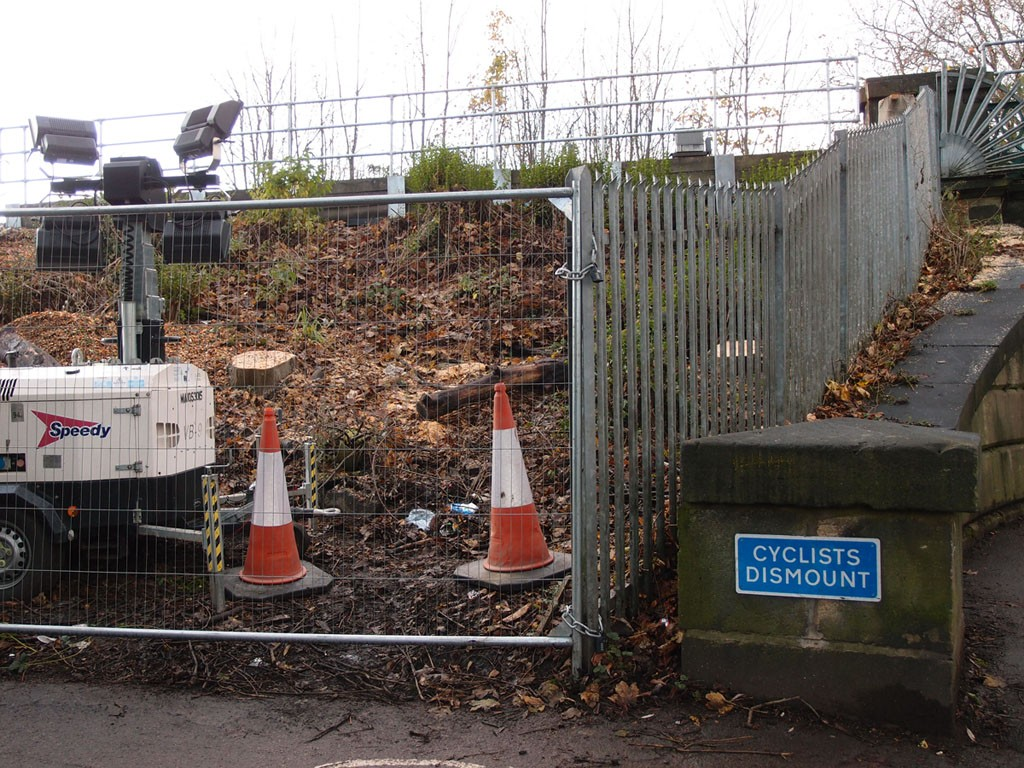 Vegetation clearance, by Scarborough Bridge, 26 Nov 2018