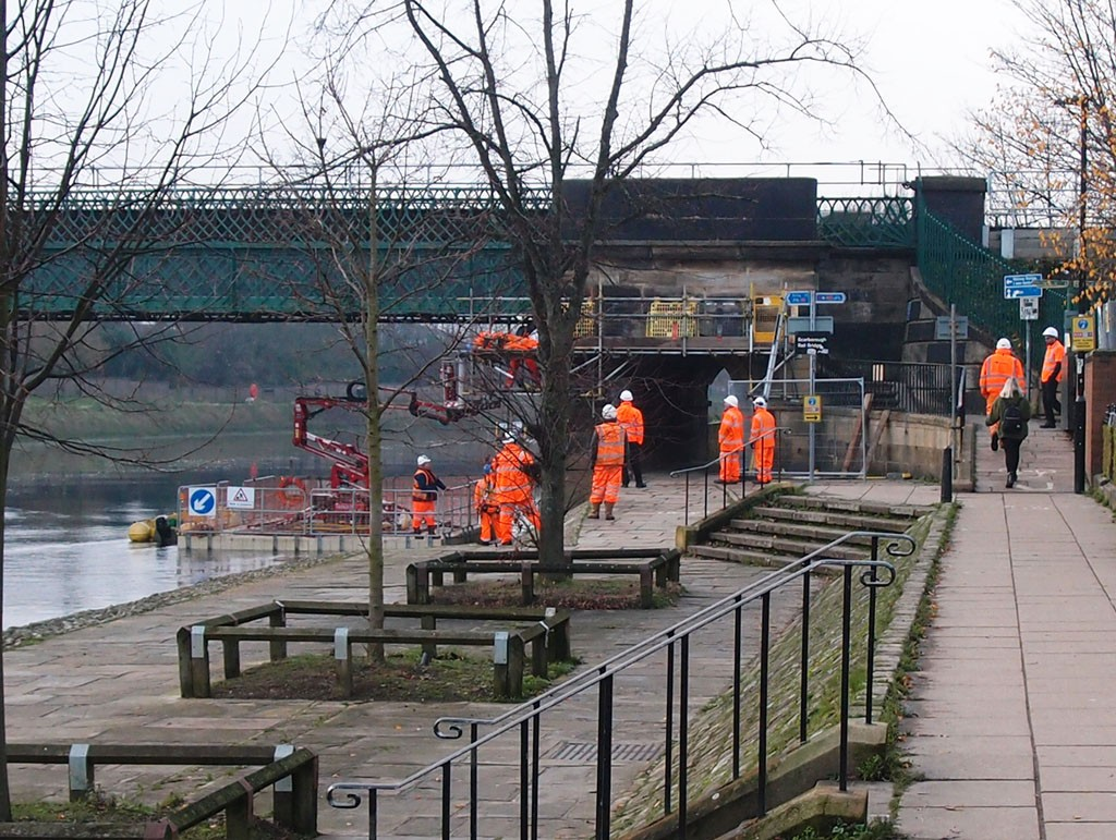 Work begins on Scarborough Bridge (4 Dec 2018)