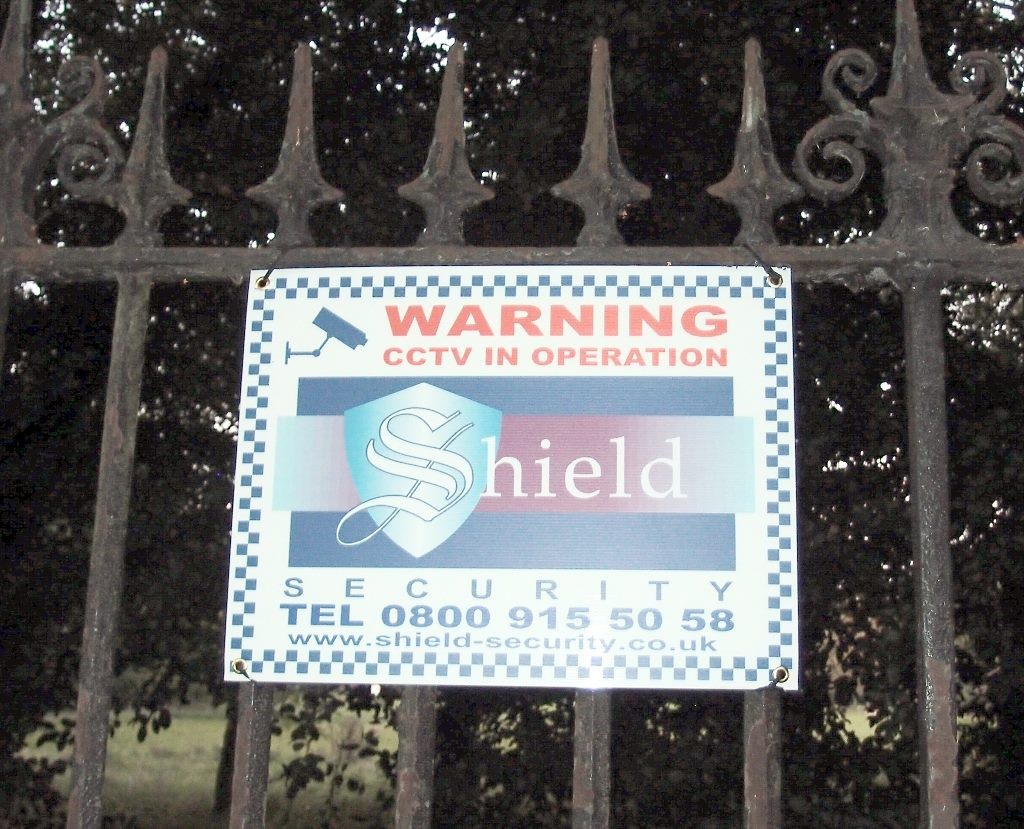 Sign on Bootham Park Hospital railings, 1 Oct 2015