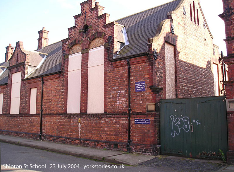 Victorian school, boarded up