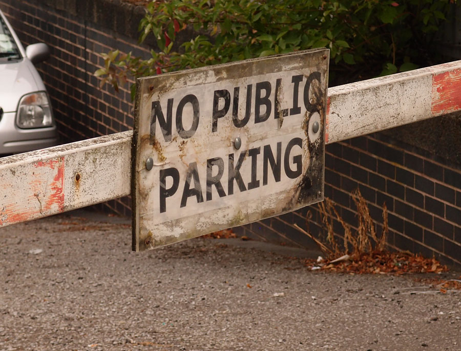 'No public parking', Foss Basin