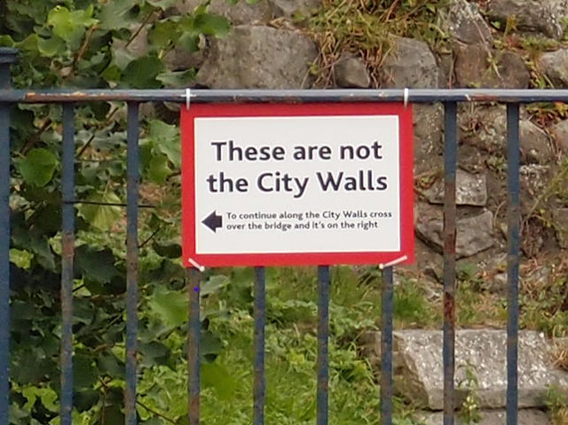 'These are not the City Walls'