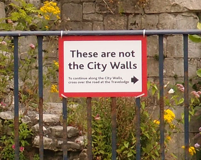 ... And 'These are not the City Walls' either ...