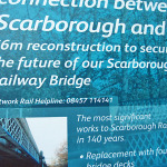 Scarborough Bridge work: impressive signage