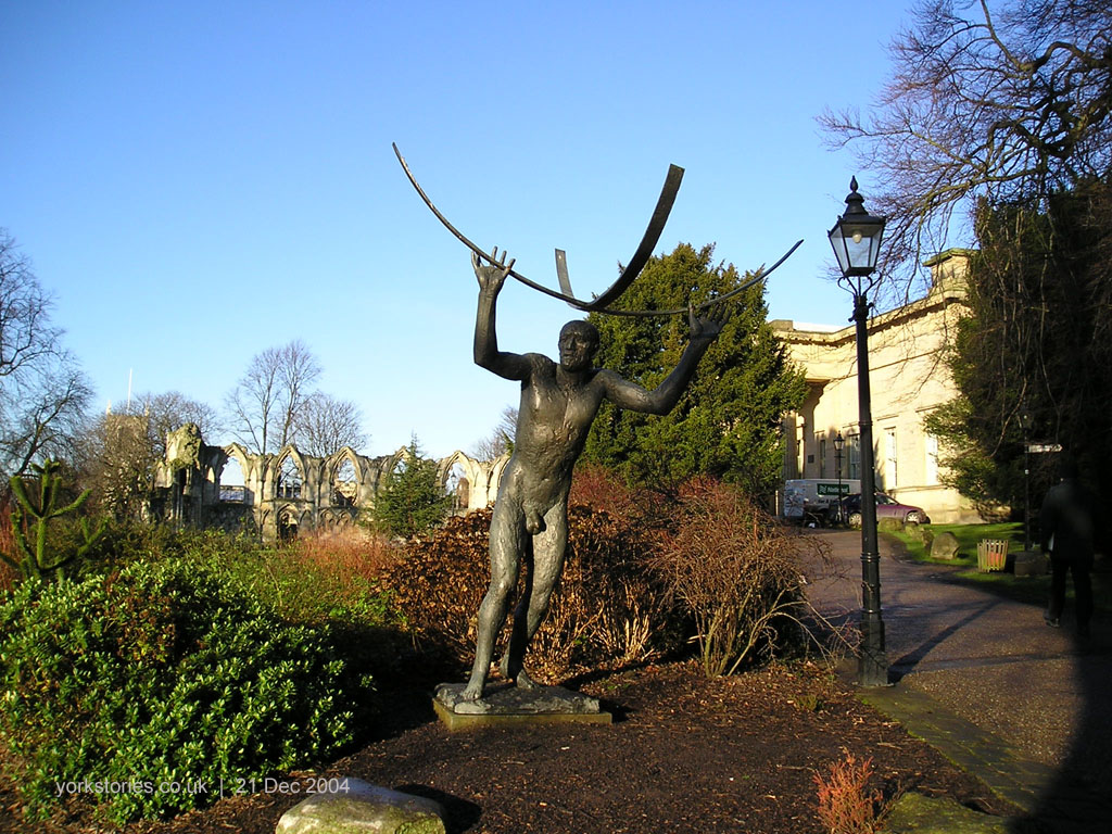 Display of sculptures in the Museum Gardens