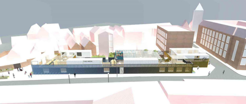 Image of proposed box park development