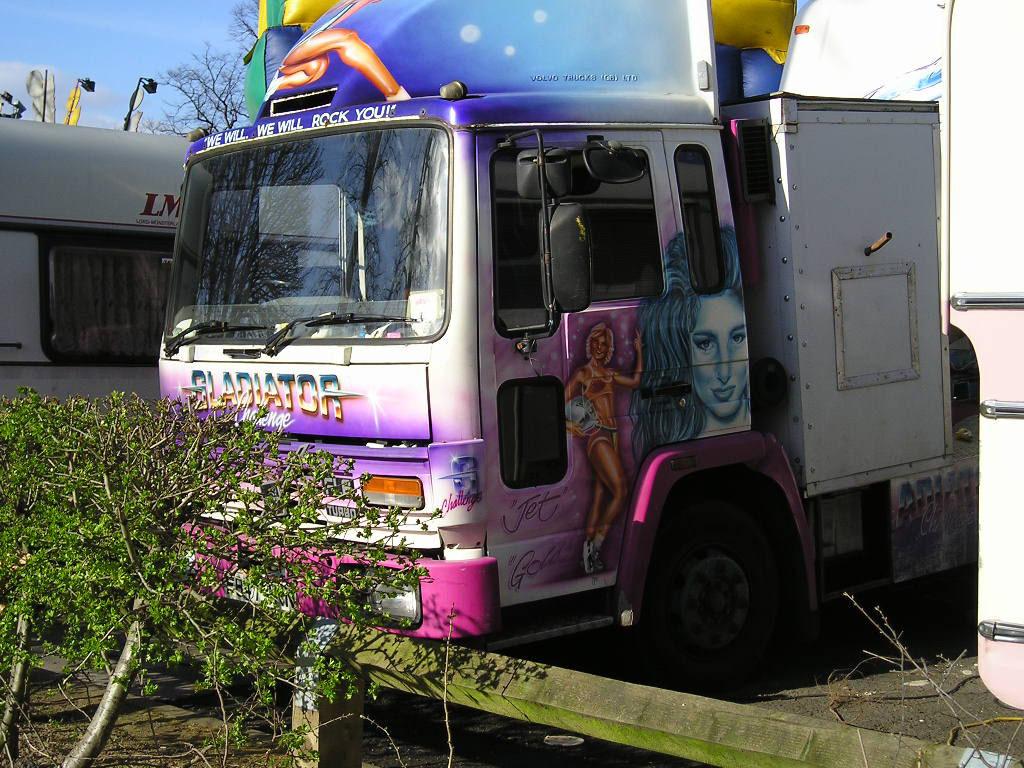 Fairground, lorry