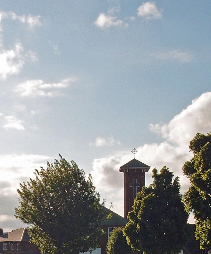 St Joseph's, trees and sky, 8 June 2015