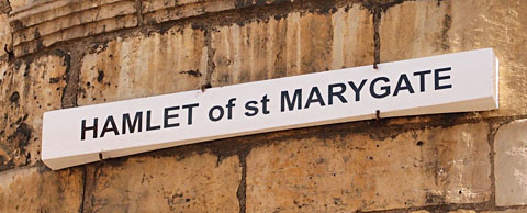 Hamlet of St Marygate, sign
