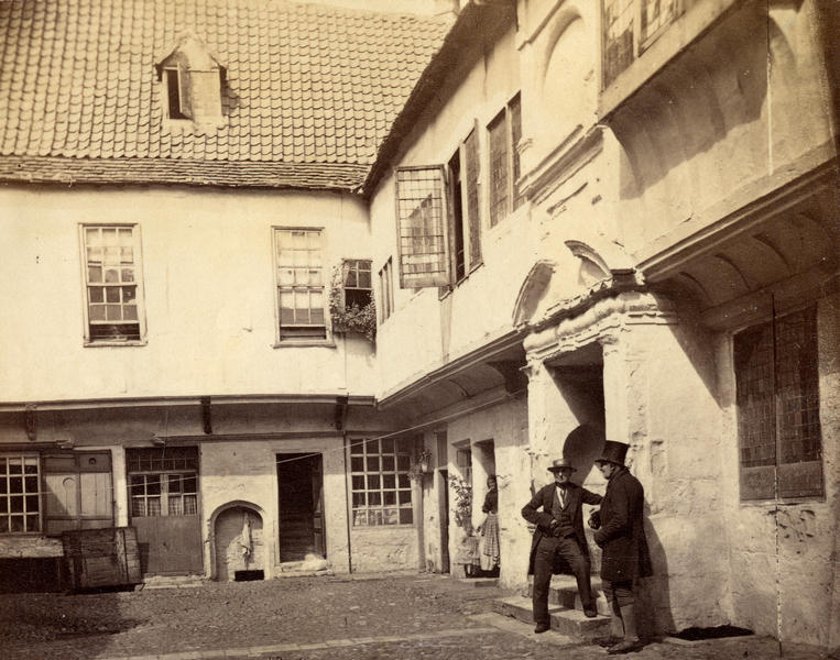 Courtyard of St William's College, 1870s. (city archives, image information)
