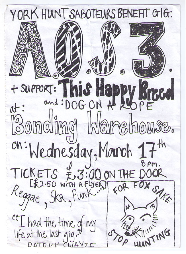 Flyer for gig, hand drawn