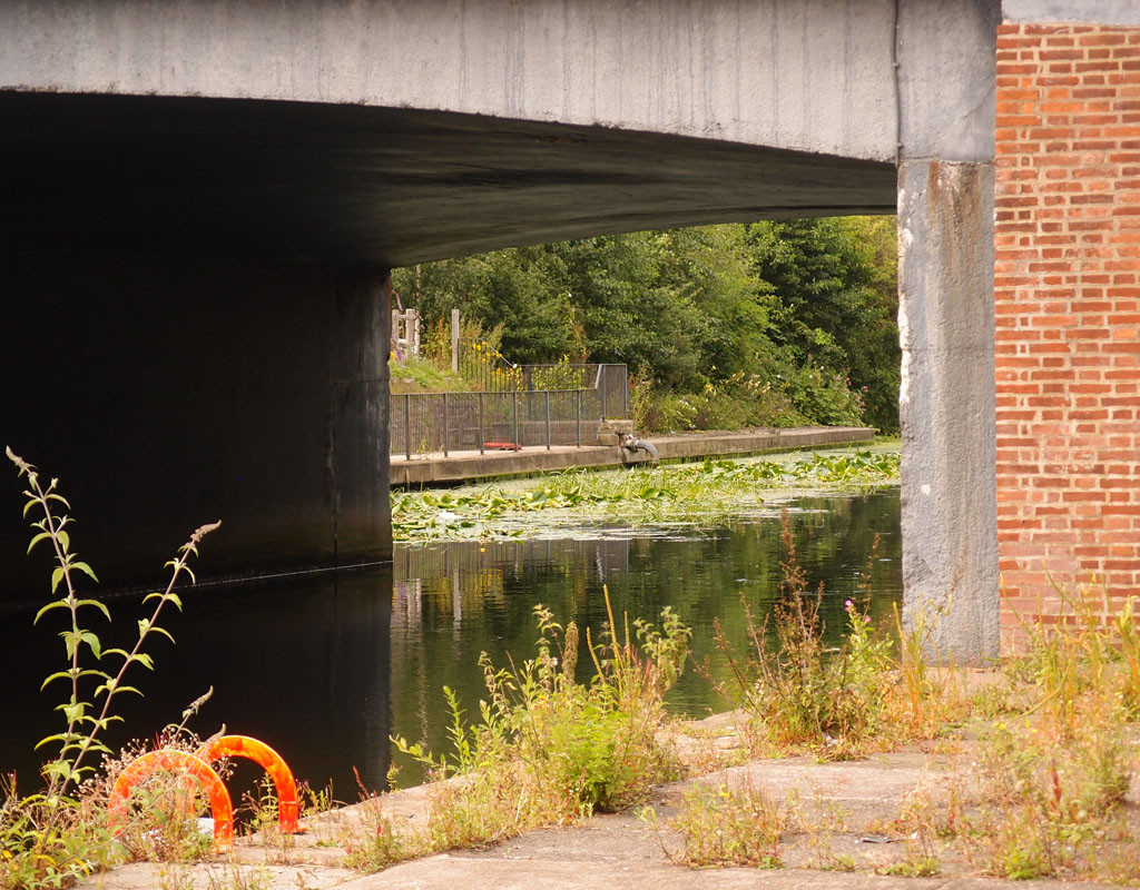 A view through: under Castle Mills Bridge, 19 July 2017