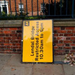 Lendal Bridge update: silly signage situation