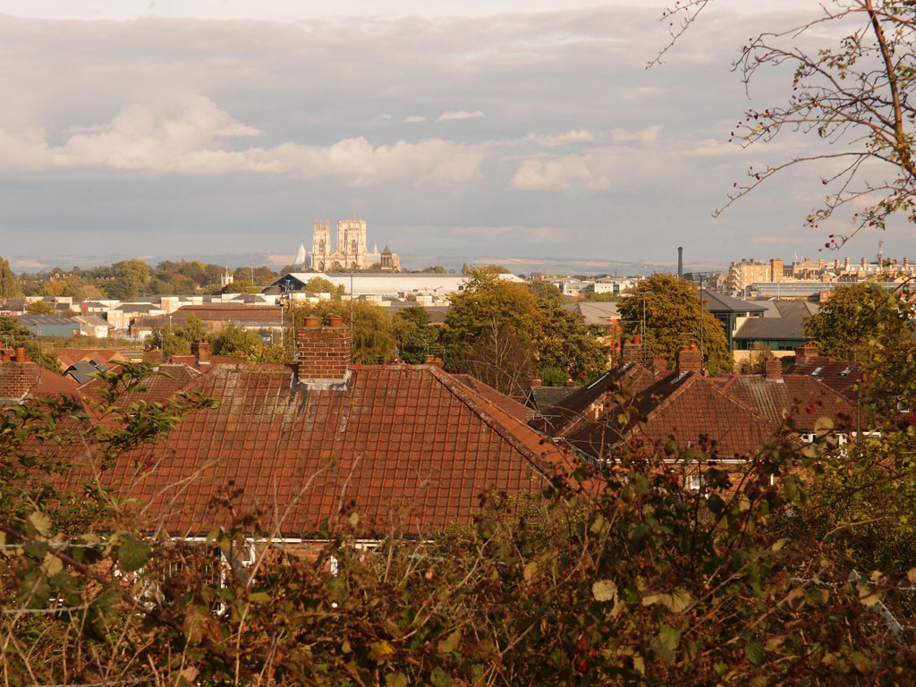 From Severus Hill, looking out over York, 8 Oct 2017