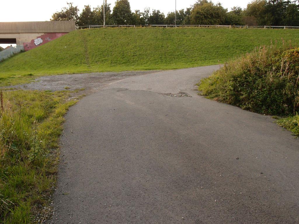 By the railway lines, alongside Millennium Green