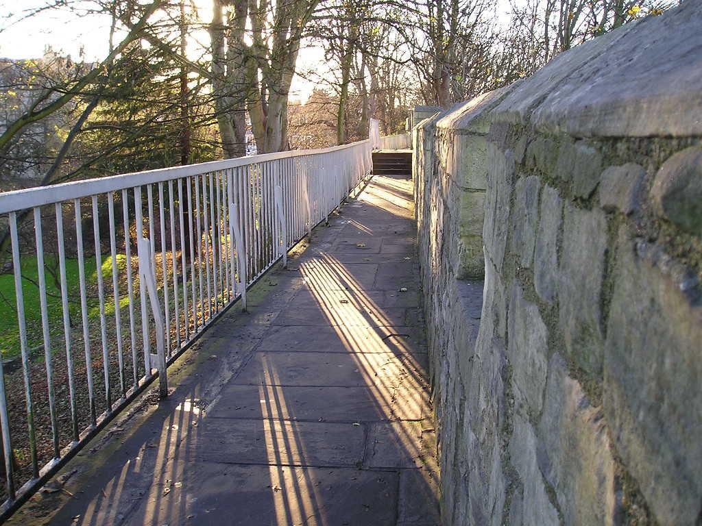 December sunlight on the city walls, December 2004