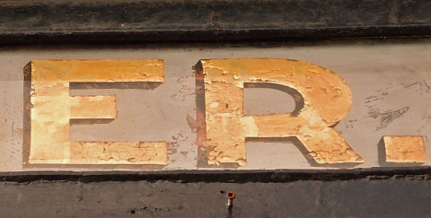 Old painted lettering