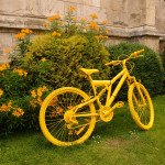 Yellow bike, St Michael le Belfrey