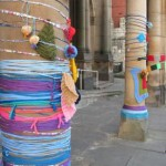 Yarn bombing the square