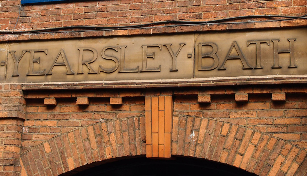 'Yearsley Bath' lettering, 23 May 2015
