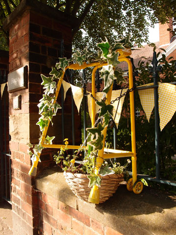Painted, decorated walking frame