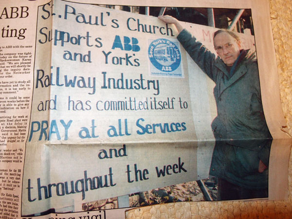 March 1995, St Paul's church, praying for ABB York