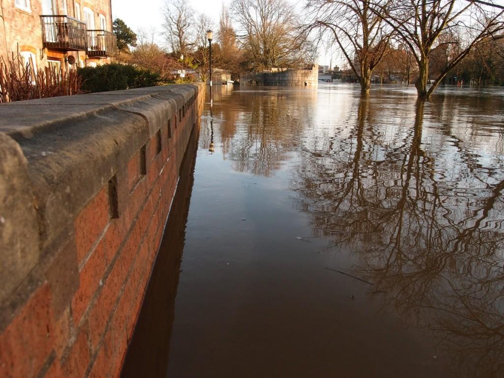 Floodwater, swollen river