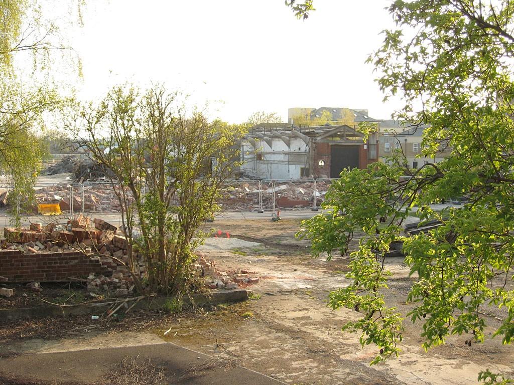 Part demolished industrial building