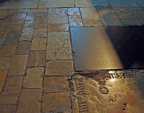Old worn paving
