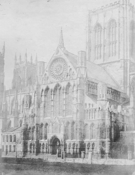 York Minster, south front. Photo: William Pumphrey, 1853 (city archives: photo information)