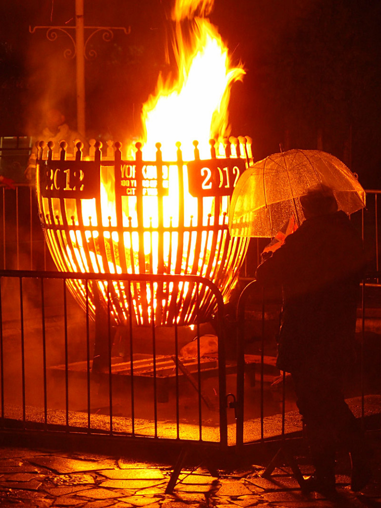 VE day 70th anniversary beacon, York, 8 May 2015