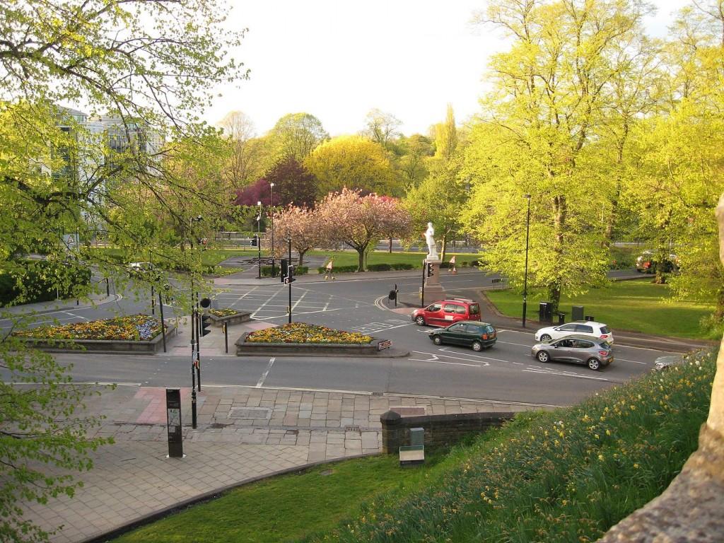 Triangular Gardens and surrounding roads